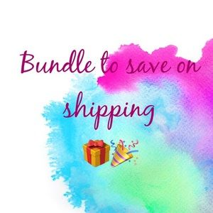 Bundle to save on shipping!!!
